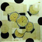 olio su tavola cm 100x100 anno 2005 non disponibile